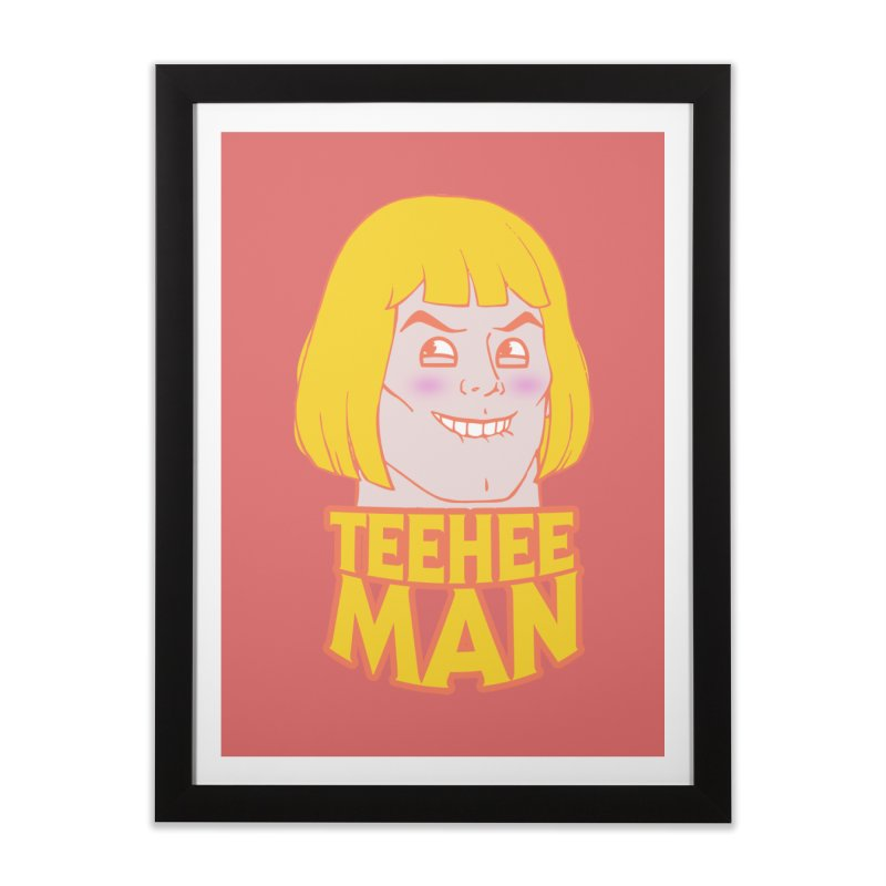 tee hee man Home Framed Fine Art Print by jerbing's Artist Shop