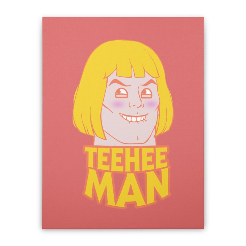 tee hee man Home Stretched Canvas by jerbing's Artist Shop
