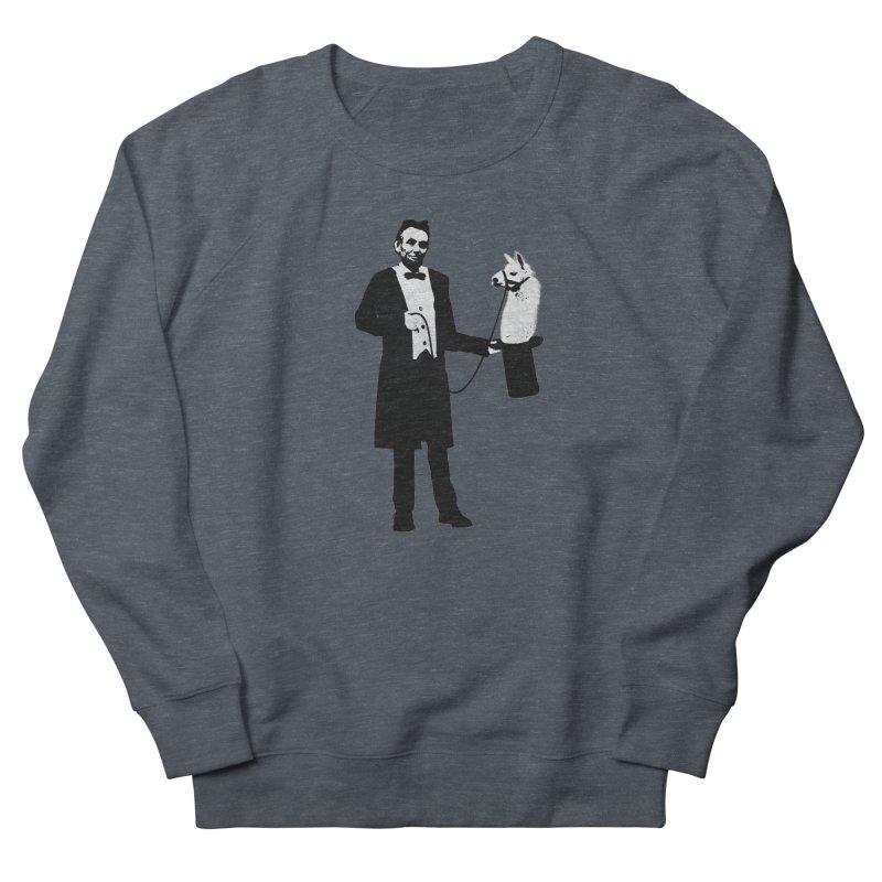 Lincoln's Llama Trick Women's Sweatshirt by jerbing's Artist Shop