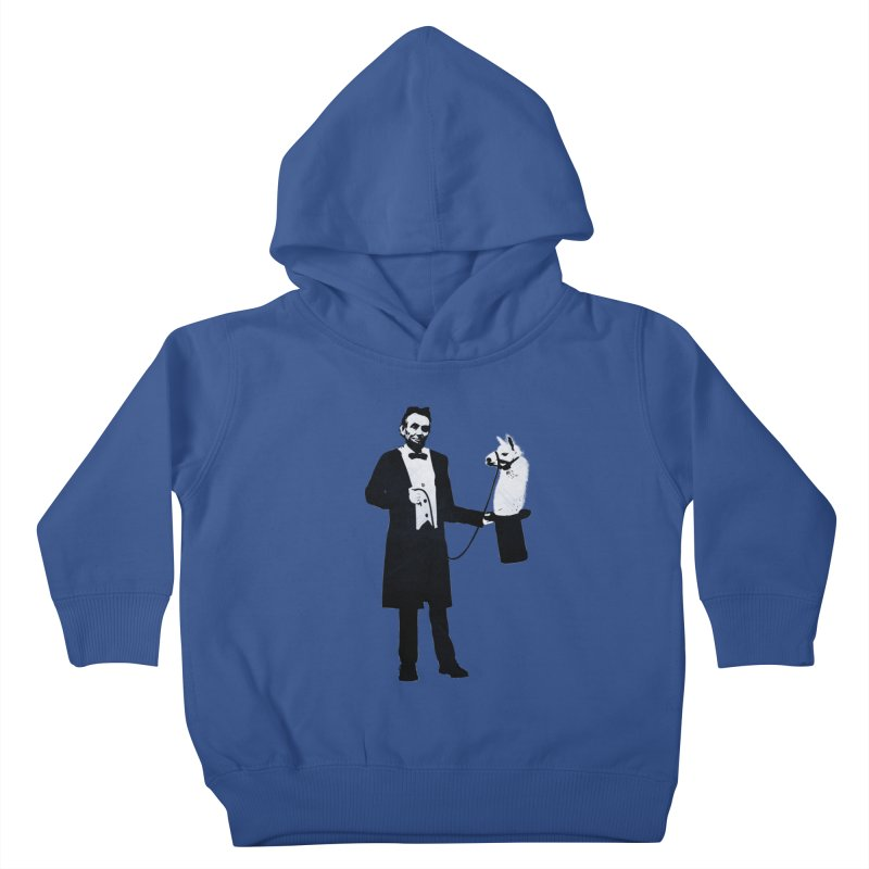 Lincoln's Llama Trick Kids Toddler Pullover Hoody by jerbing's Artist Shop