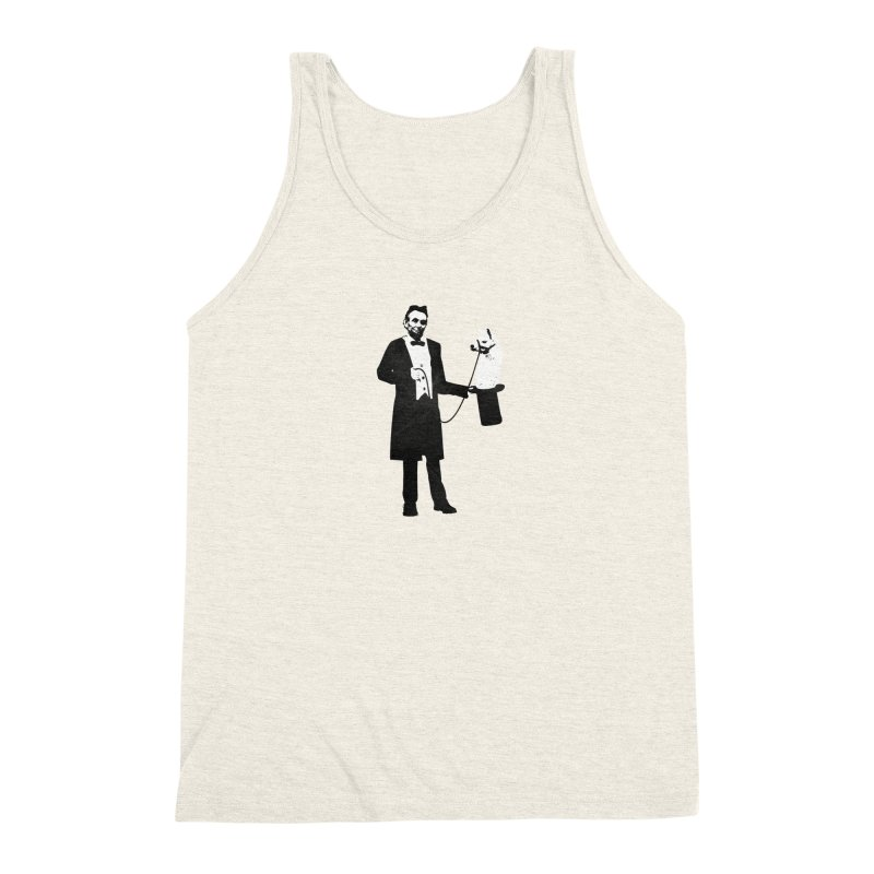 Lincoln's Llama Trick Men's Triblend Tank by jerbing's Artist Shop