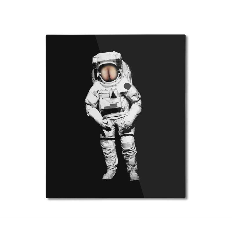 buttronaut Home Mounted Aluminum Print by jerbing's Artist Shop