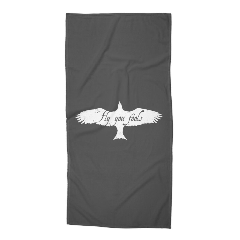fly you fools Accessories Beach Towel by jerbing's Artist Shop