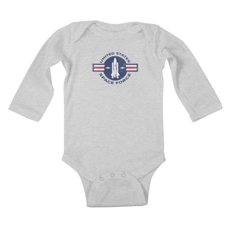 space force Kids Baby Longsleeve Bodysuit by jerbing's Artist Shop