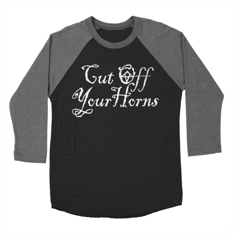 cut off your horns Men's Baseball Triblend T-Shirt by jerbing's Artist Shop