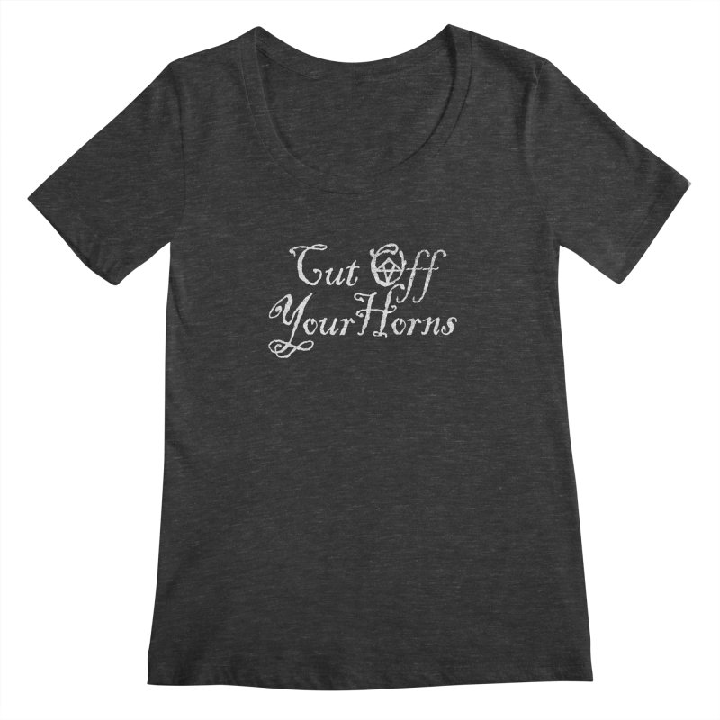 cut off your horns Women's Scoopneck by jerbing's Artist Shop
