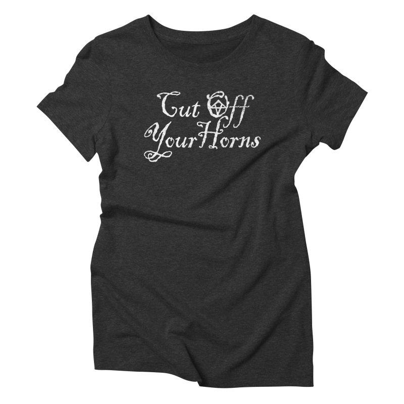cut off your horns Women's Triblend T-Shirt by jerbing's Artist Shop