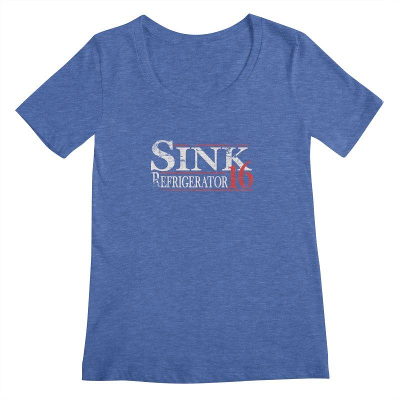 SINK 16 Women's Scoopneck by jerbing's Artist Shop