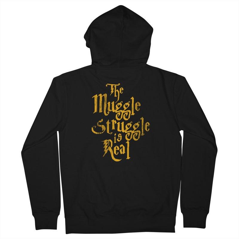 Muggle Struggle Men's Zip-Up Hoody by jerbing's Artist Shop