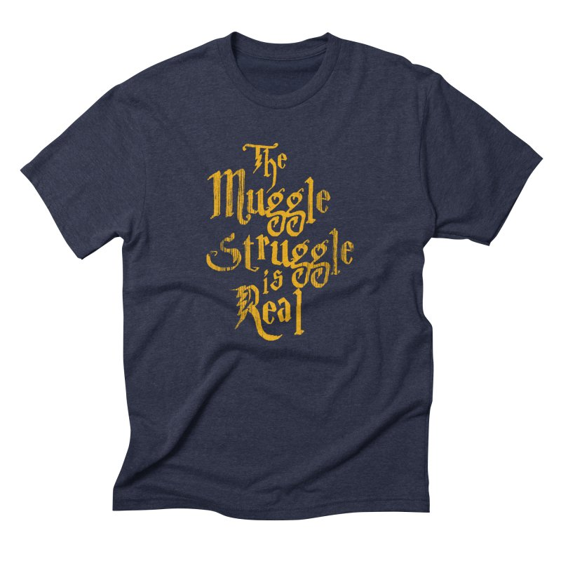 Muggle Struggle Men's Triblend T-shirt by jerbing's Artist Shop