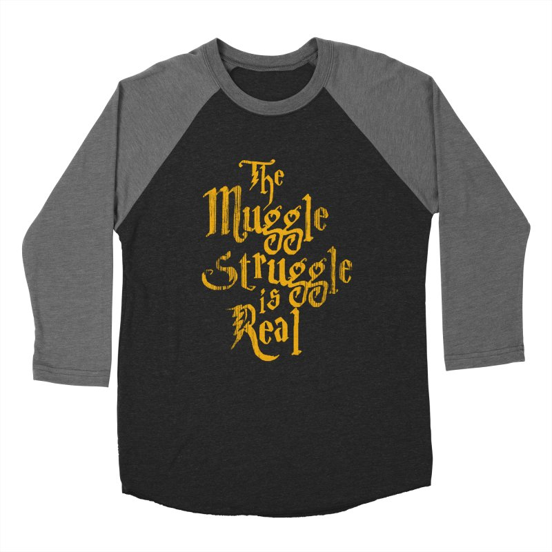 Muggle Struggle Women's Baseball Triblend Longsleeve T-Shirt by jerbing's Artist Shop