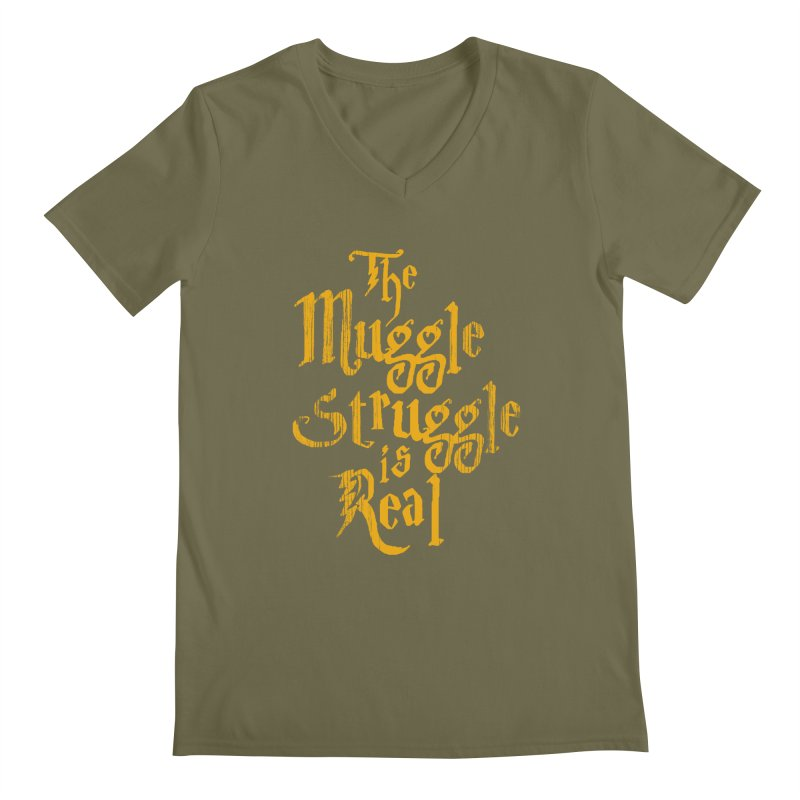 Muggle Struggle Men's V-Neck by jerbing's Artist Shop