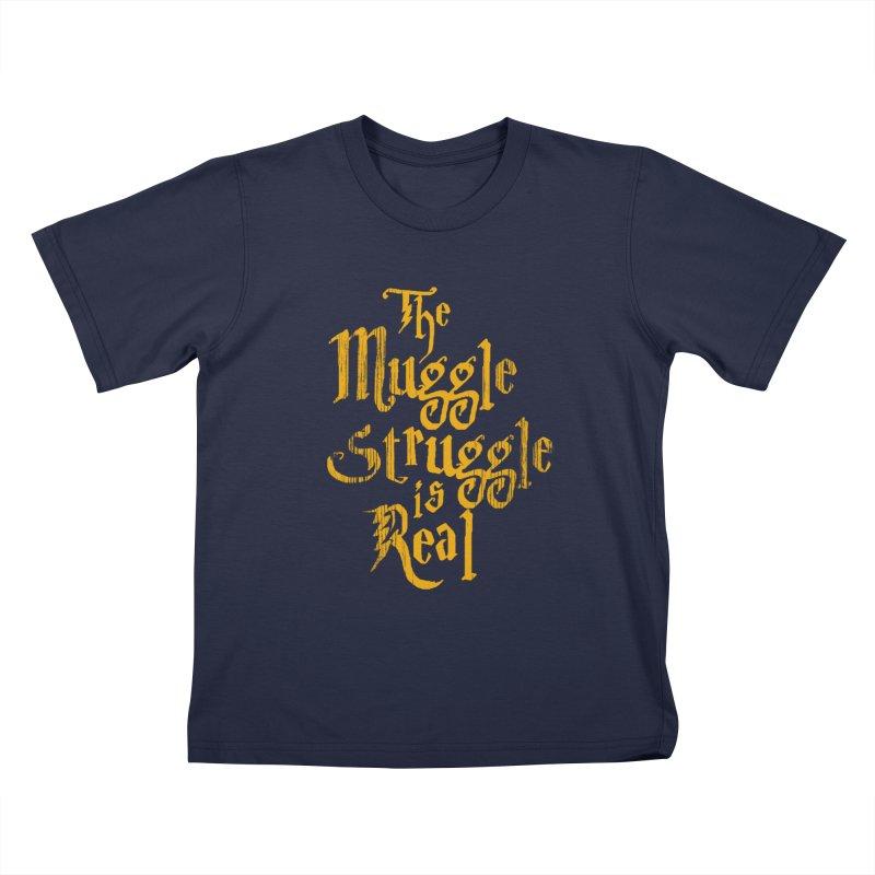 Muggle Struggle Kids T-shirt by jerbing's Artist Shop
