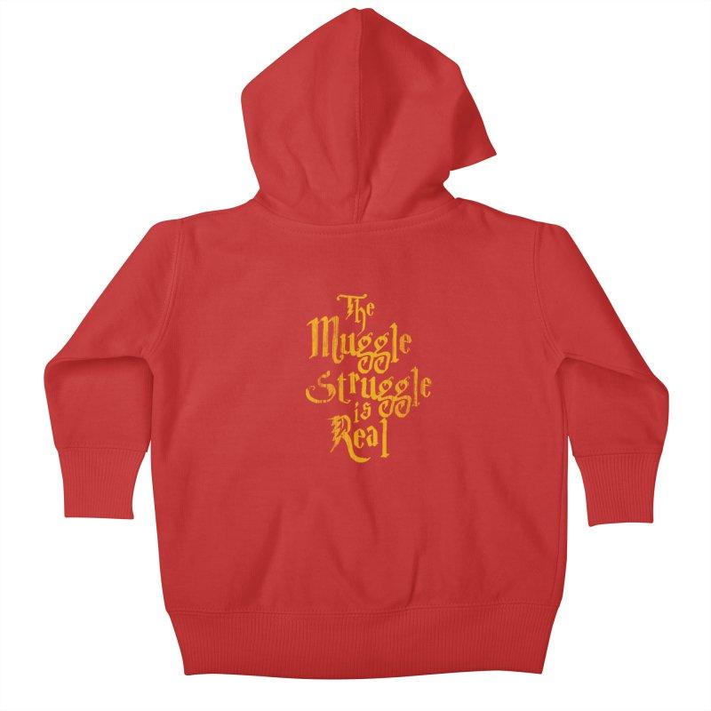 Muggle Struggle Kids Baby Zip-Up Hoody by jerbing's Artist Shop
