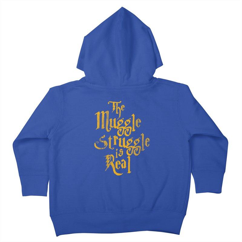 Muggle Struggle Kids Toddler Zip-Up Hoody by jerbing's Artist Shop