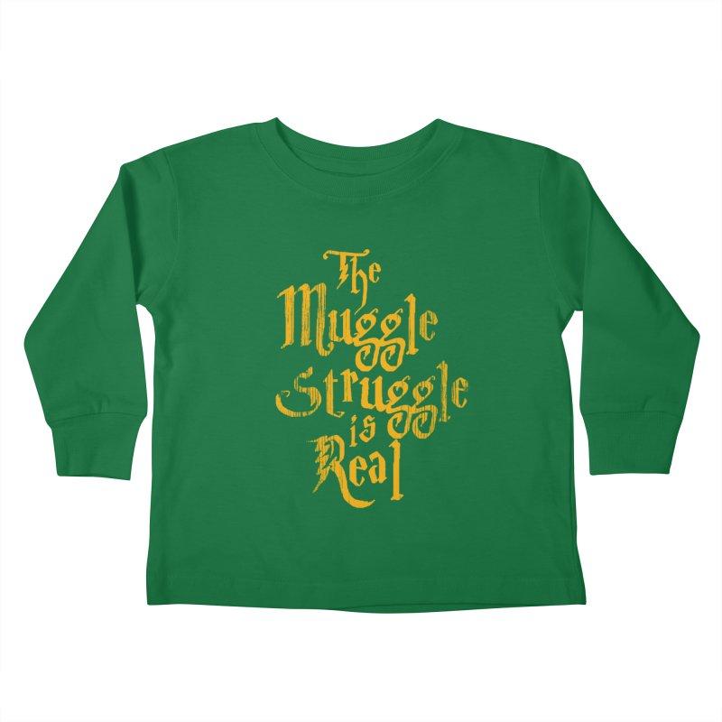Muggle Struggle Kids Toddler Longsleeve T-Shirt by jerbing's Artist Shop