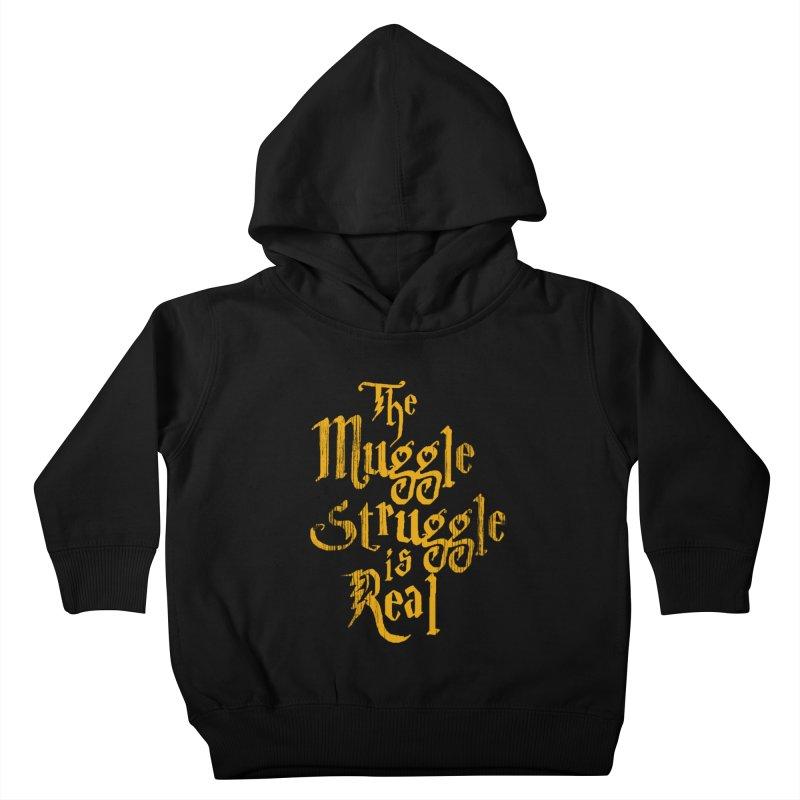 Muggle Struggle Kids Toddler Pullover Hoody by jerbing's Artist Shop