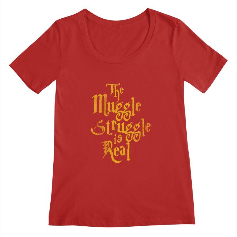 Muggle Struggle Women's Scoopneck by jerbing's Artist Shop