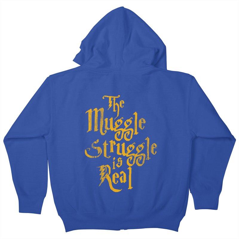 Muggle Struggle Kids Zip-Up Hoody by jerbing's Artist Shop