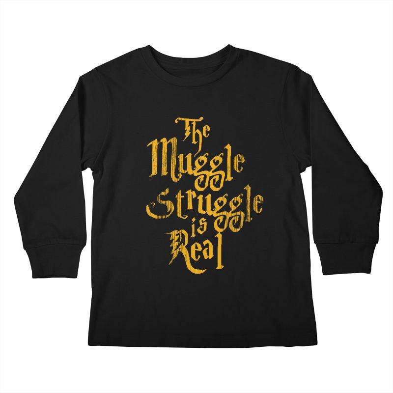 Muggle Struggle Kids Longsleeve T-Shirt by jerbing's Artist Shop
