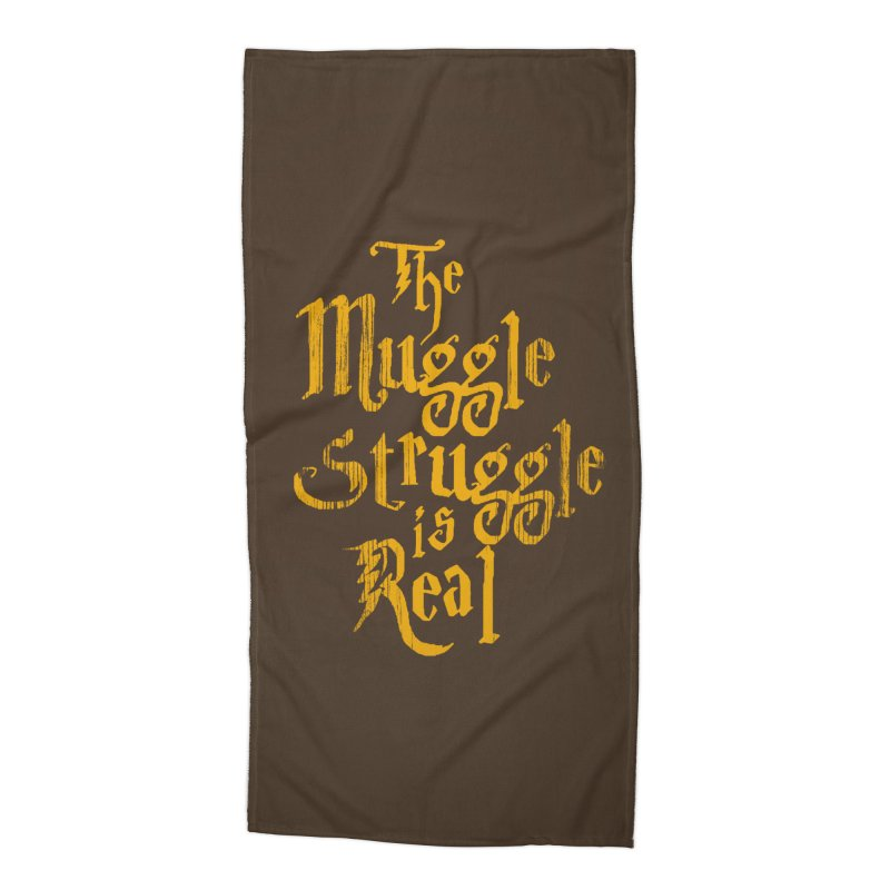 Muggle Struggle Accessories Beach Towel by jerbing's Artist Shop