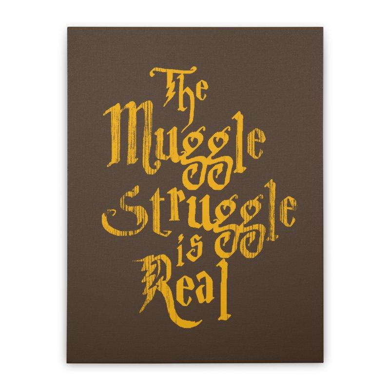 Muggle Struggle Home Stretched Canvas by jerbing's Artist Shop