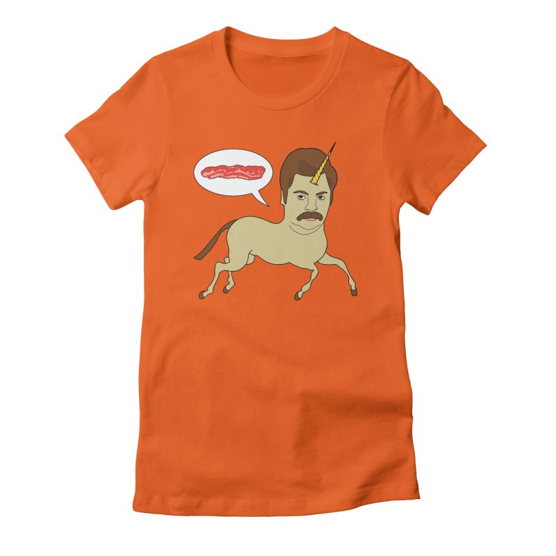 Let's Talk About Bacon Women's Fitted T-Shirt by jeremyscheuch's Artist Shop