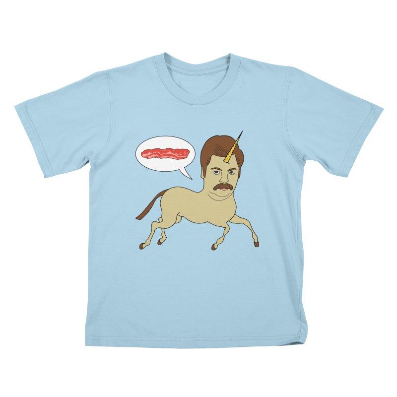 Let's Talk About Bacon Kids T-Shirt by jeremyscheuch's Artist Shop