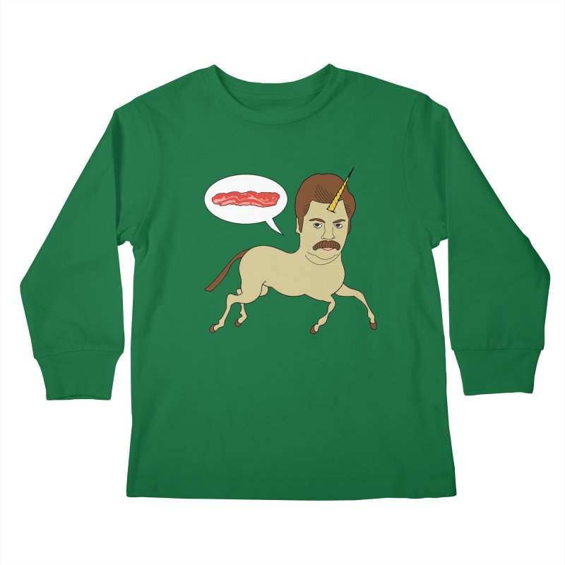Let's Talk About Bacon Kids Longsleeve T-Shirt by jeremyscheuch's Artist Shop