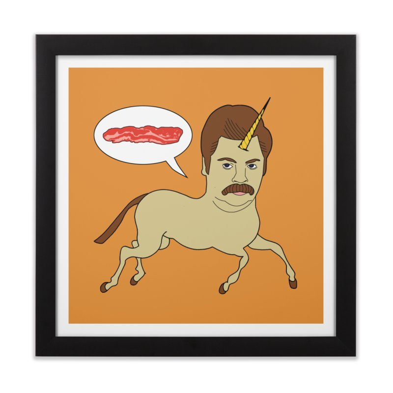 Let's Talk About Bacon Home Framed Fine Art Print by jeremyscheuch's Artist Shop
