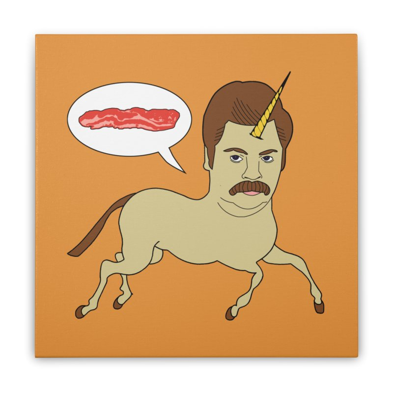 Let's Talk About Bacon Home Stretched Canvas by jeremyscheuch's Artist Shop