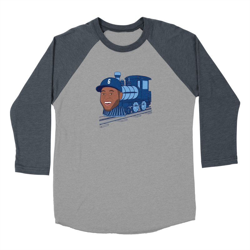 No. 6 Train to Kansas City Men's Baseball Triblend T-Shirt by jeremyscheuch's Artist Shop