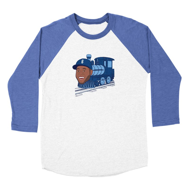No. 6 Train to Kansas City Men's Baseball Triblend T-Shirt by jeremyscheuch's Artist Shop