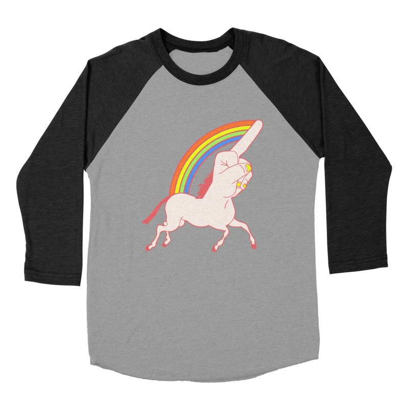 F*CK YOUNICORN Women's Baseball Triblend T-Shirt by jeremyscheuch's Artist Shop