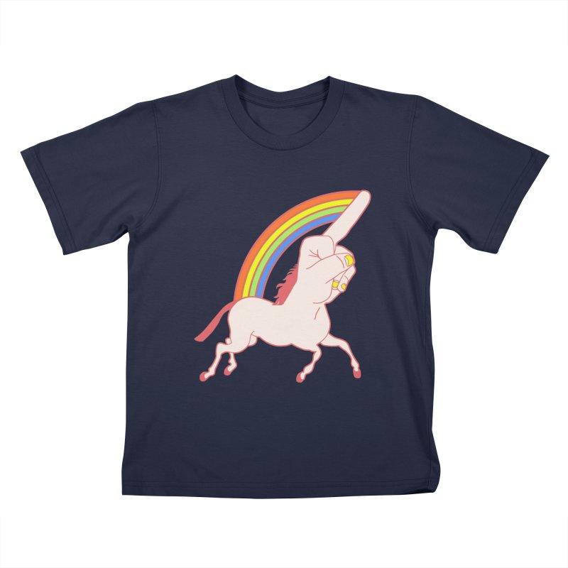 F*CK YOUNICORN Kids T-Shirt by jeremyscheuch's Artist Shop