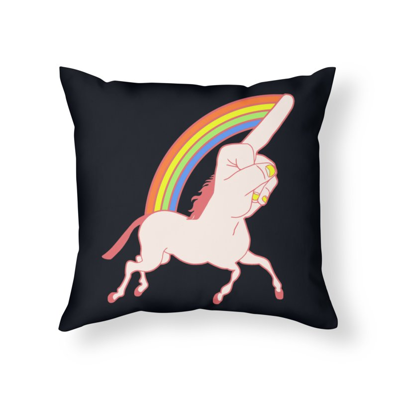 F*CK YOUNICORN Home Throw Pillow by jeremyscheuch's Artist Shop