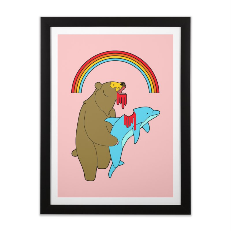 BEAR VS DOLPHIN Home Framed Fine Art Print by jeremyscheuch's Artist Shop