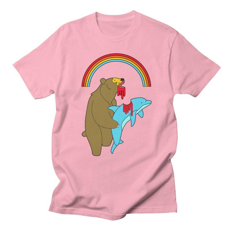 BEAR VS DOLPHIN Men's T-Shirt by jeremyscheuch's Artist Shop