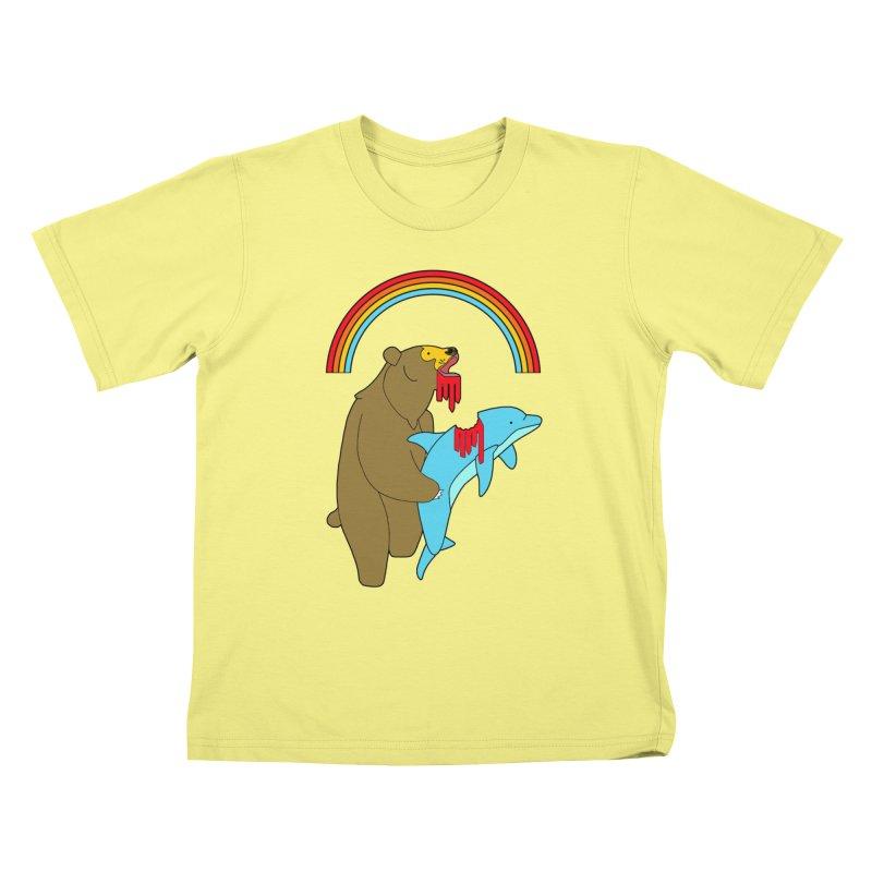 BEAR VS DOLPHIN Kids T-shirt by jeremyscheuch's Artist Shop