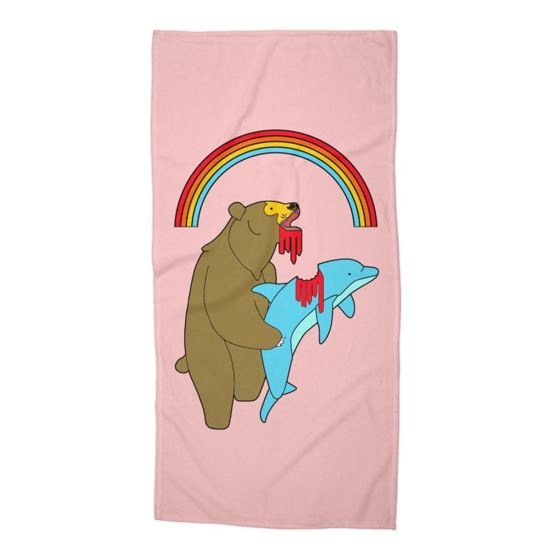 BEAR VS DOLPHIN Accessories Beach Towel by jeremyscheuch's Artist Shop