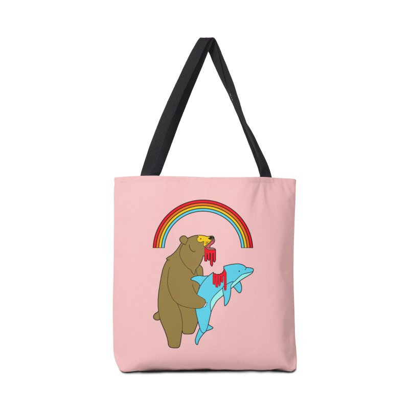 BEAR VS DOLPHIN Accessories Bag by jeremyscheuch's Artist Shop
