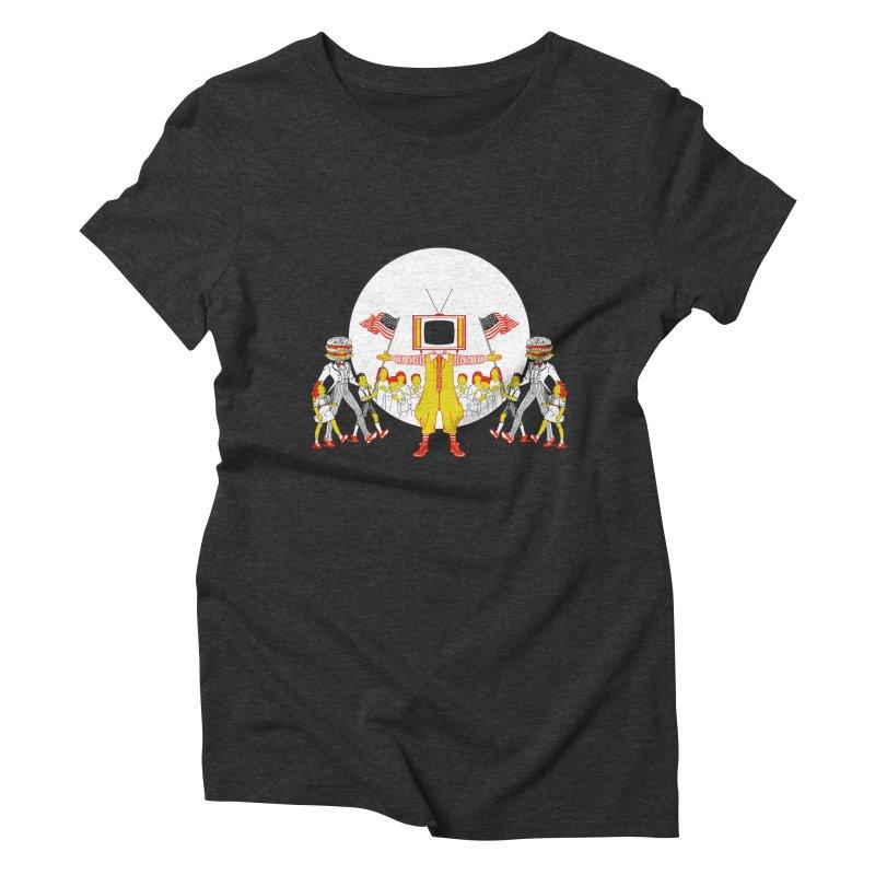THE LAST SUPPER Women's Triblend T-Shirt by jeremyscheuch's Artist Shop