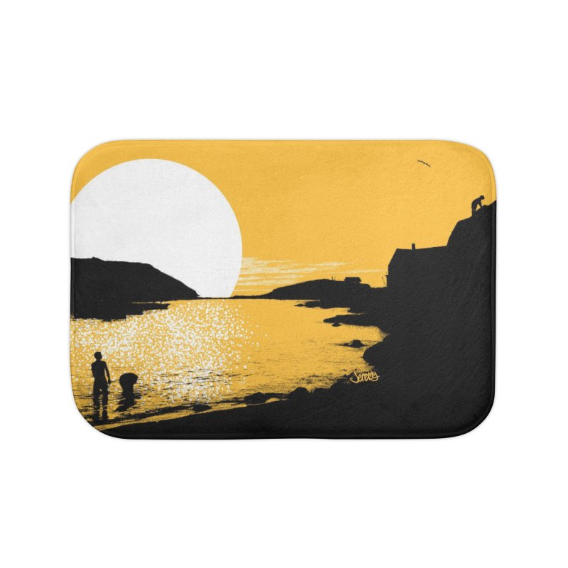 Monhegan Island, Maine Home Bath Mat by Jeremy Wheeler