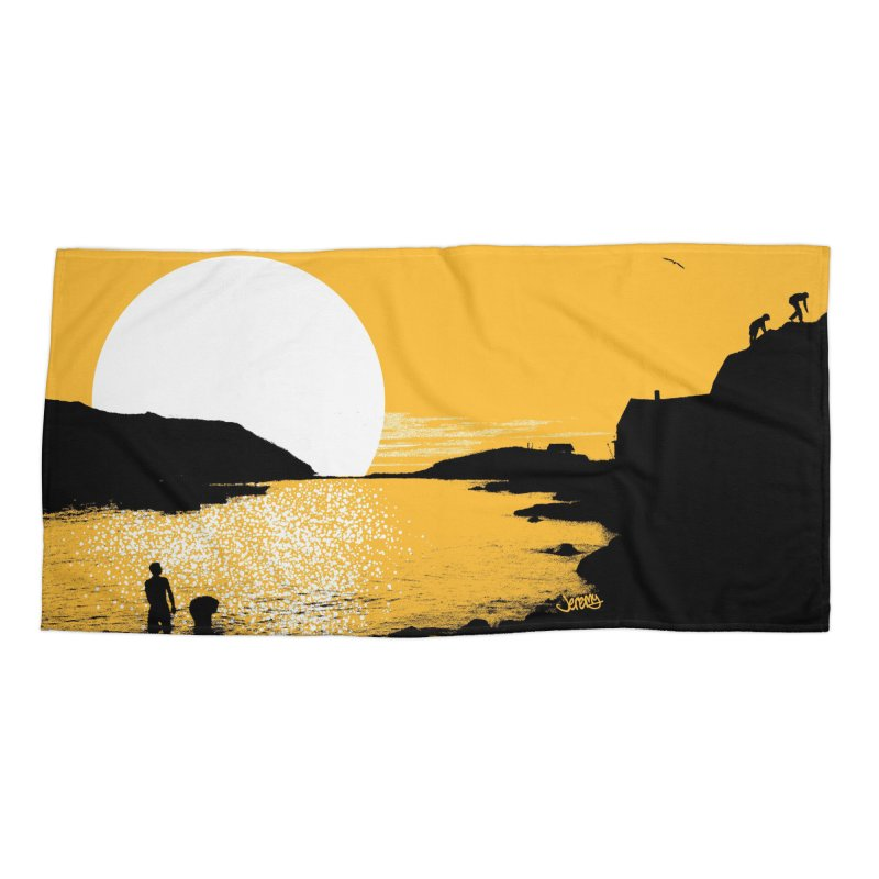Monhegan Island, Maine Accessories Beach Towel by Jeremy Wheeler