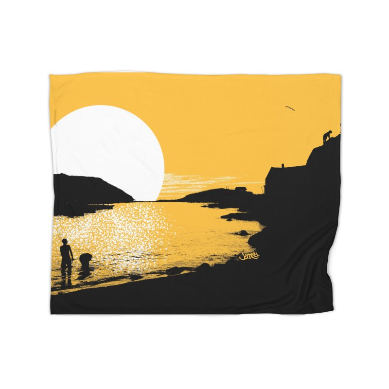 Monhegan Island, Maine Home Blanket by Jeremy Wheeler