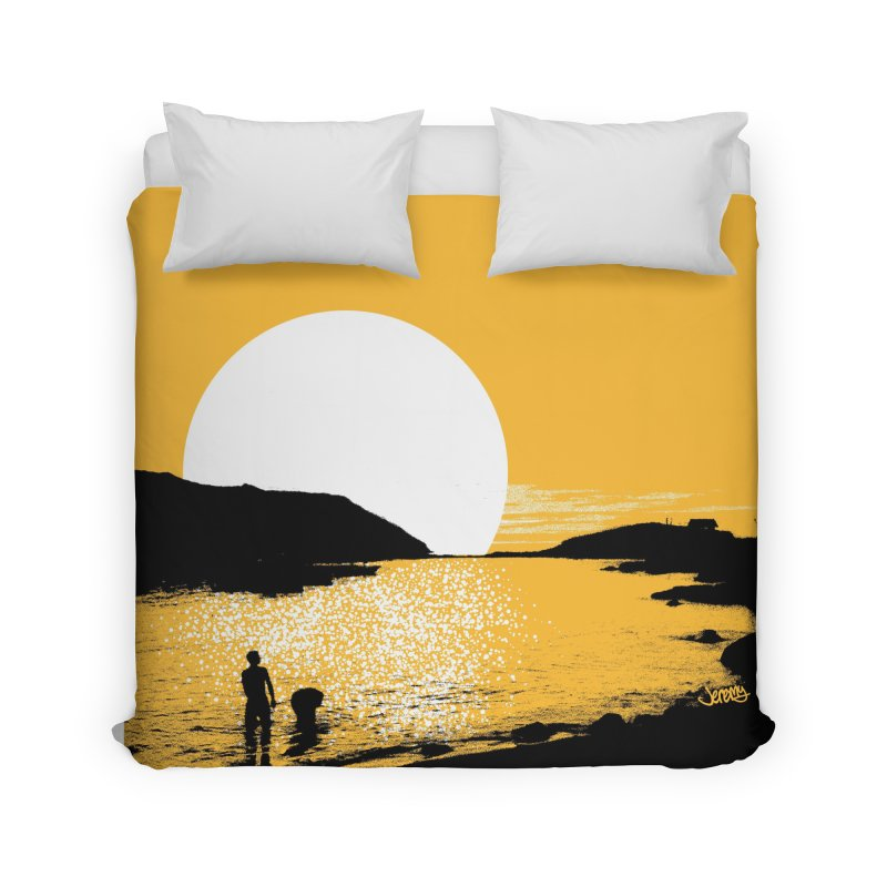 Monhegan Island, Maine Home Duvet by Jeremy Wheeler