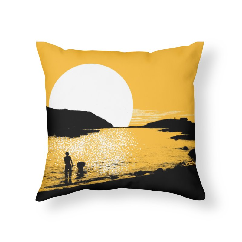 Monhegan Island, Maine Home Throw Pillow by Jeremy Wheeler