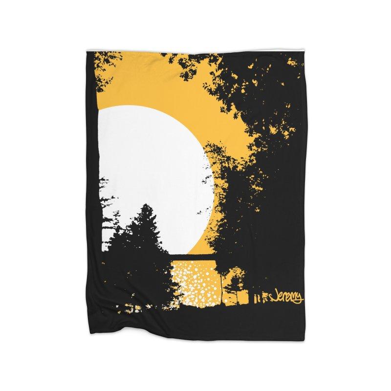 Mullett Lake, Michigan Home Fleece Blanket Blanket by Jeremy Wheeler