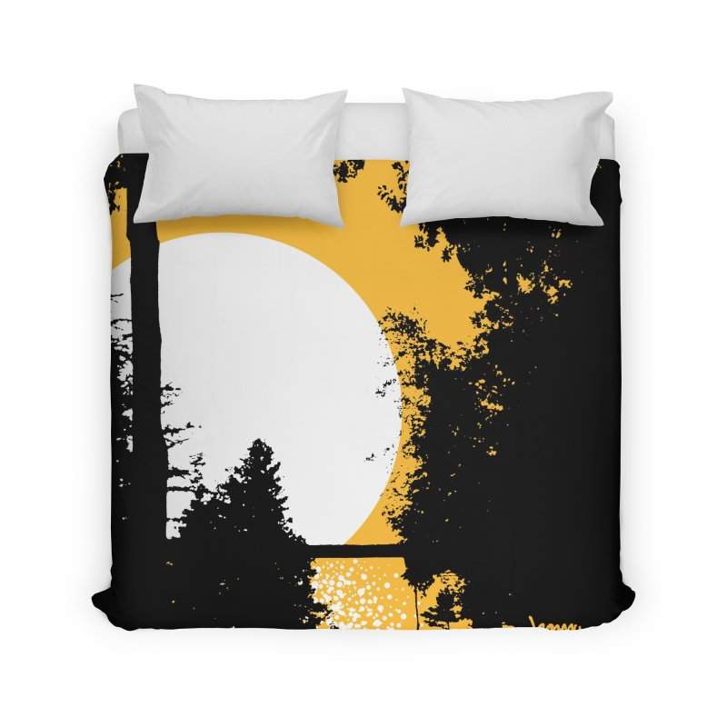 Mullett Lake, Michigan Home Duvet by Jeremy Wheeler