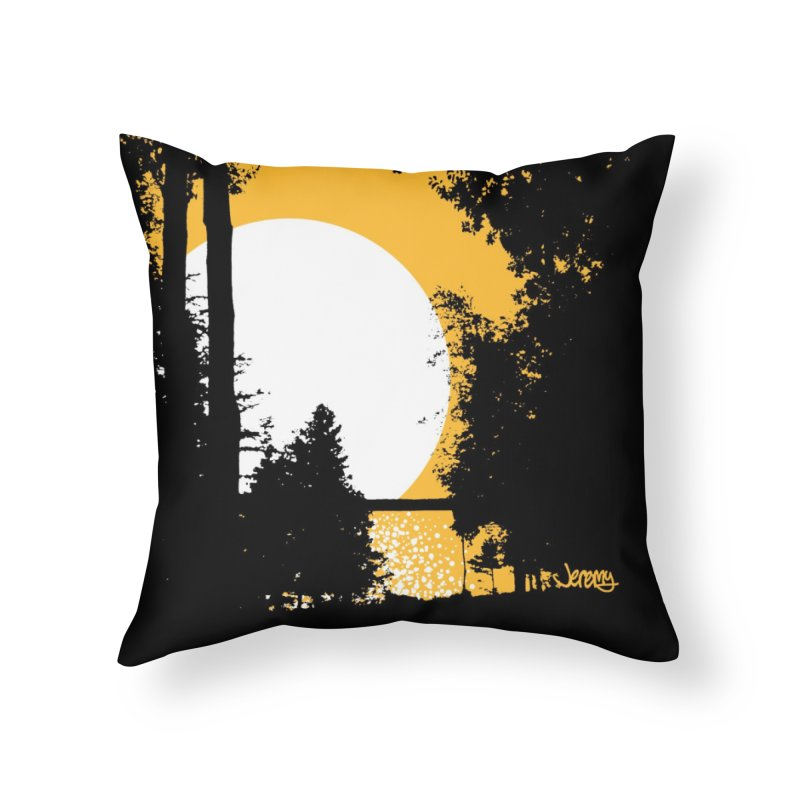 Mullett Lake, Michigan Home Throw Pillow by Jeremy Wheeler
